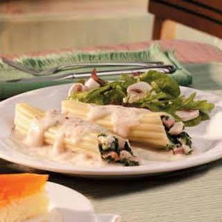 Spinach Chicken Manicotti Recipe.