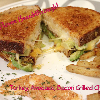 Turkey, Avocado, Bacon Grilled Cheese!
