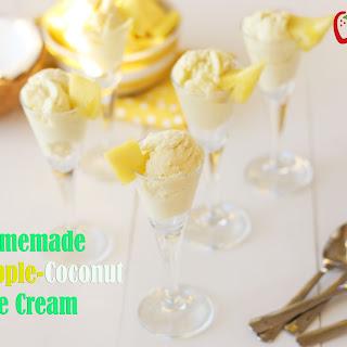 Homemade Pineapple Coconut Ice Cream {Dairy Free}