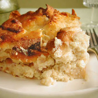 English Muffin Strata with Ham and Cheese.