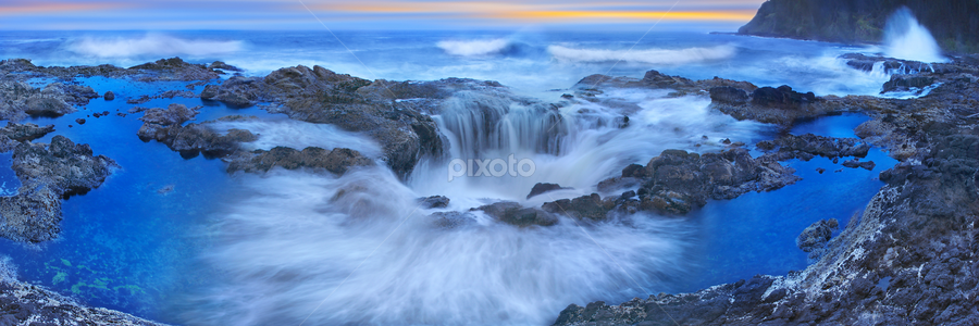 Into the Blue by Craig Bill - Nature Up Close Water ( water, peter lik, oregon, peter lik style, fountain, sea, thors well, ocean, seascape, blues,  )