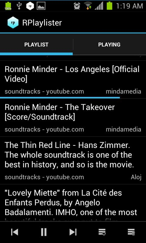 RPlaylister - Music via Reddit - screenshot