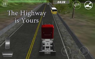 Screenshot of Big Red Truck: 3D Driving Sim