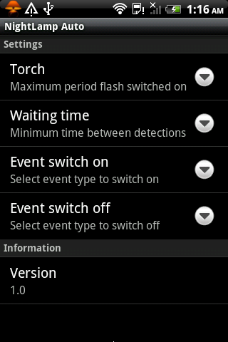 Night Lamp Auto- screenshot