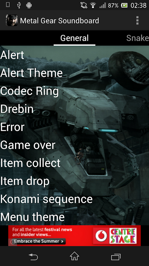 Metal Gear Soundboard - screenshot