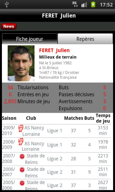 ASNL Officiel - screenshot