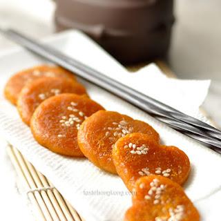 Pumpkin Sweet Rice Pancake, Chinese Style