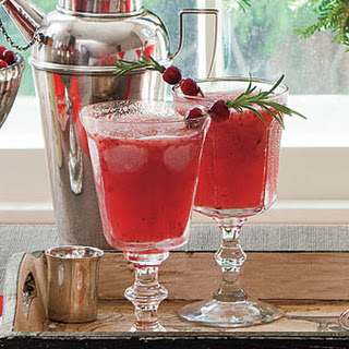 Frozen Cranberry-Moonshine Lemonade.