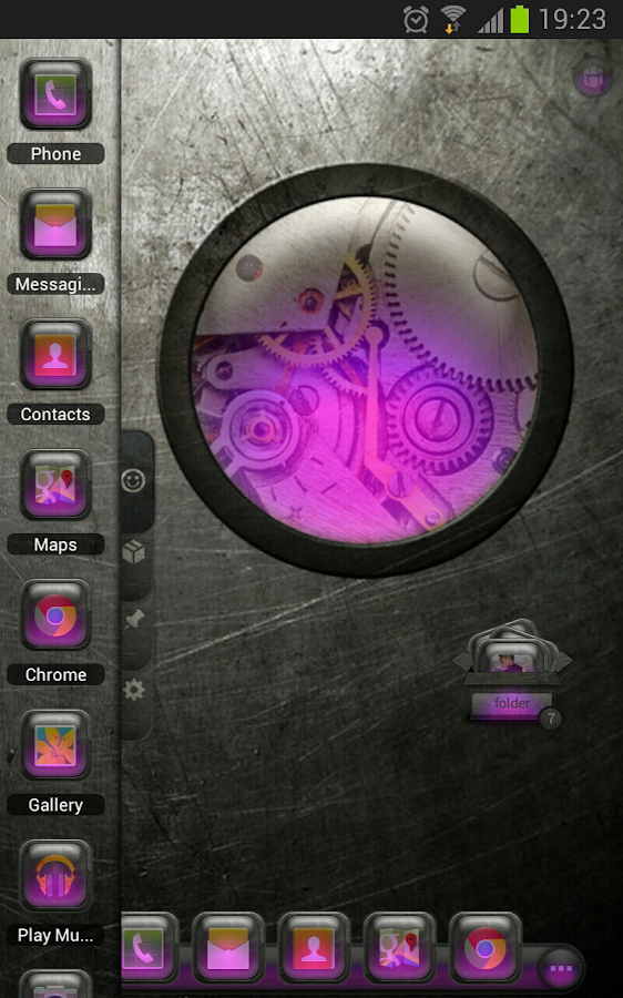 TSF Shell Theme EventGlassV HD - screenshot