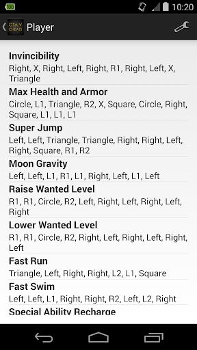 Cheats for GTA 5 (PS4 / Xbox) 1.0 screenshots 1