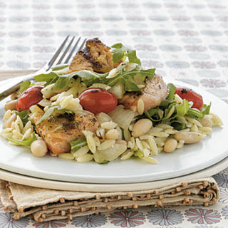 Grilled Pesto Salmon—Orzo Salad.