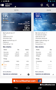 AccuWeather para Android - screenshot thumbnail