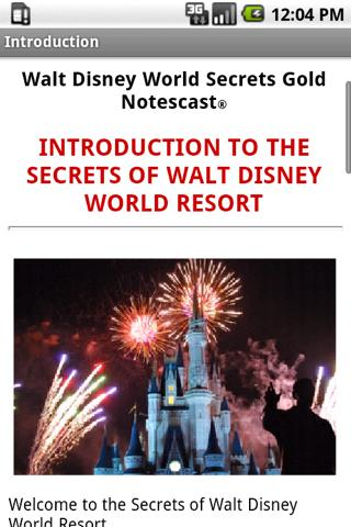 Disney World Secrets Gold!- screenshot