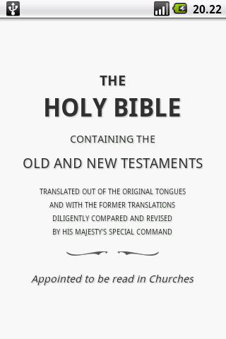 Holy Bible (KJV)  screenshots 1