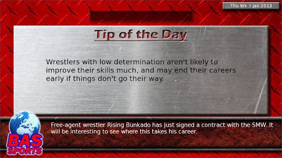 Wrestling Booker Game - screenshot thumbnail