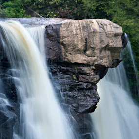 Blackwater Falls I by Glen Fortner - Landscapes Waterscapes ( nature, waterfall, appalachia, long exposure, close up )