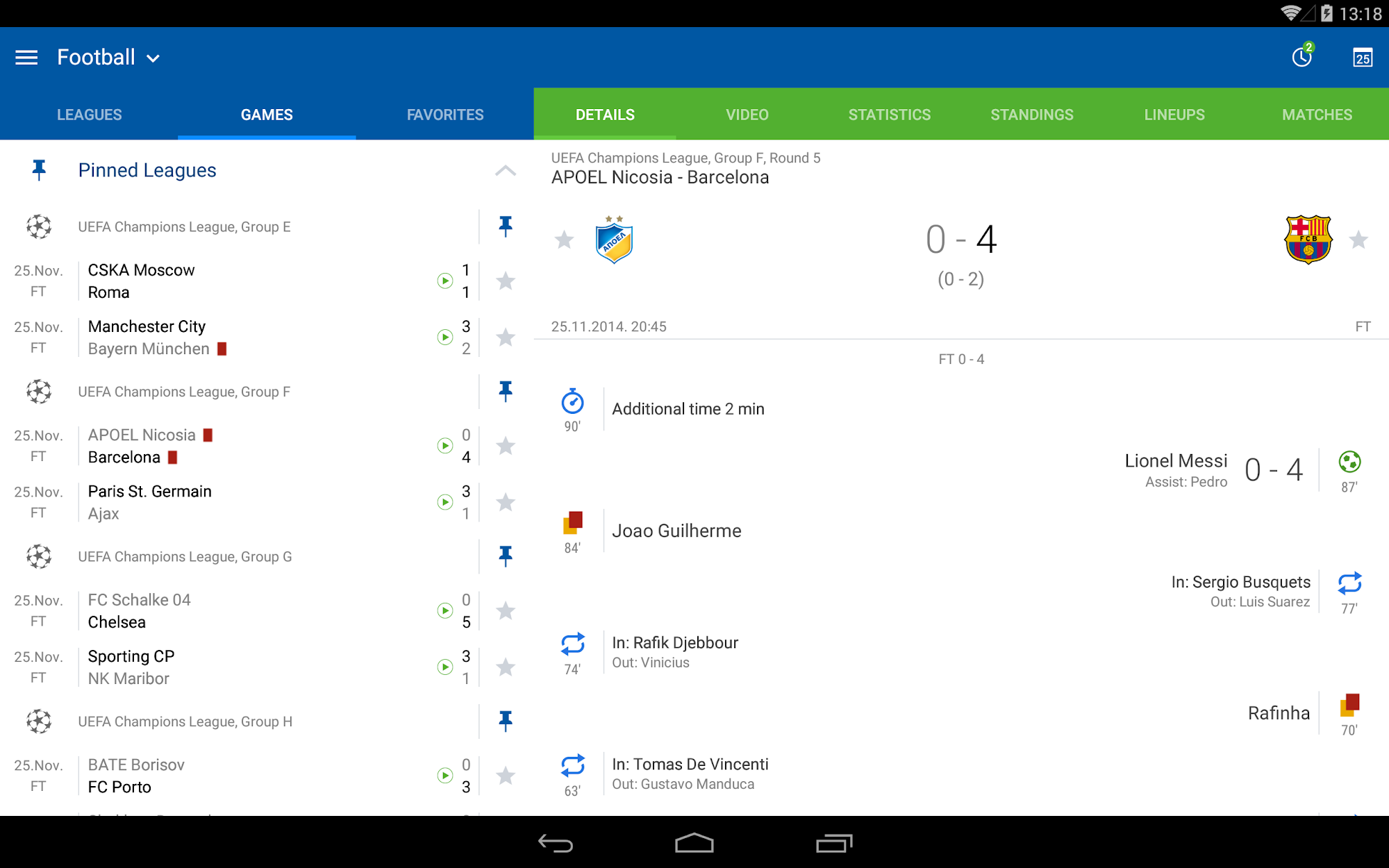 LiveScore results - SofaScore screenshot #1