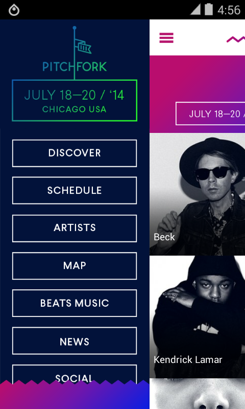 Pitchfork Music Festival 2014 - screenshot