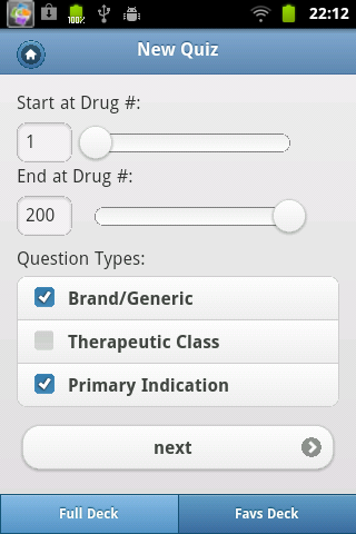 Top 200 Drugs Quiz & Card - screenshot