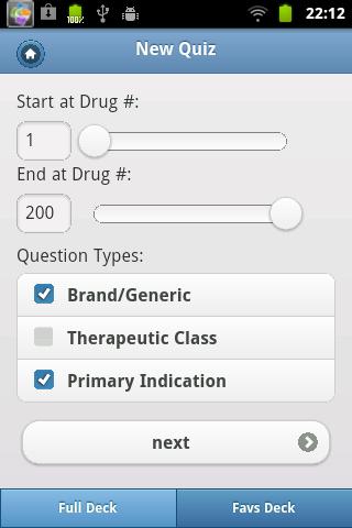Top 200 Drugs Quiz & Card- screenshot