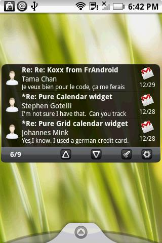 Pure messenger widget- screenshot
