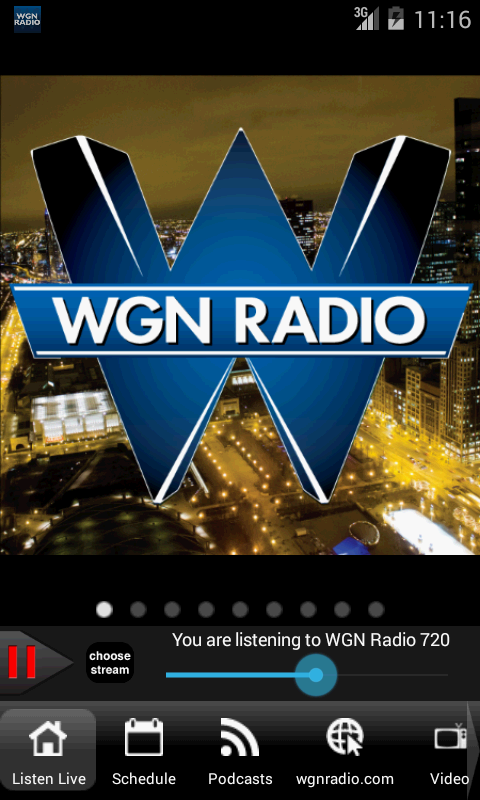 WGN Radio, Chicago's Very Own - screenshot