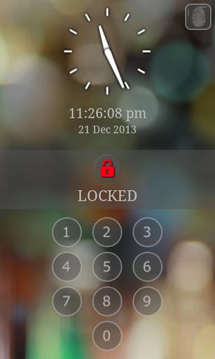 Screen Lock - with Fingerprint Simulator 8.6 screenshots 9