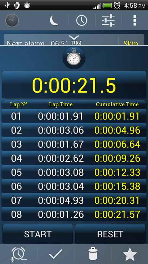 Alarm Clock +Stopwatch +Timer - screenshot