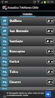Screenshot of Actualiza Teléfonos Chile