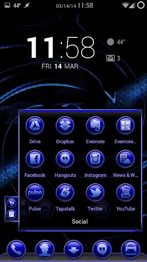 TrueBlue Apex/ADW/Nova 1.1.9 screenshots 2