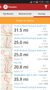 Map My Ride GPS Cycling Riding - screenshot thumbnail