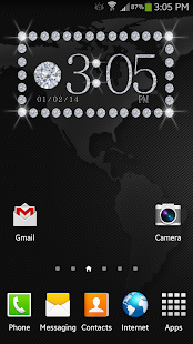 Diamond Status Clock Widget