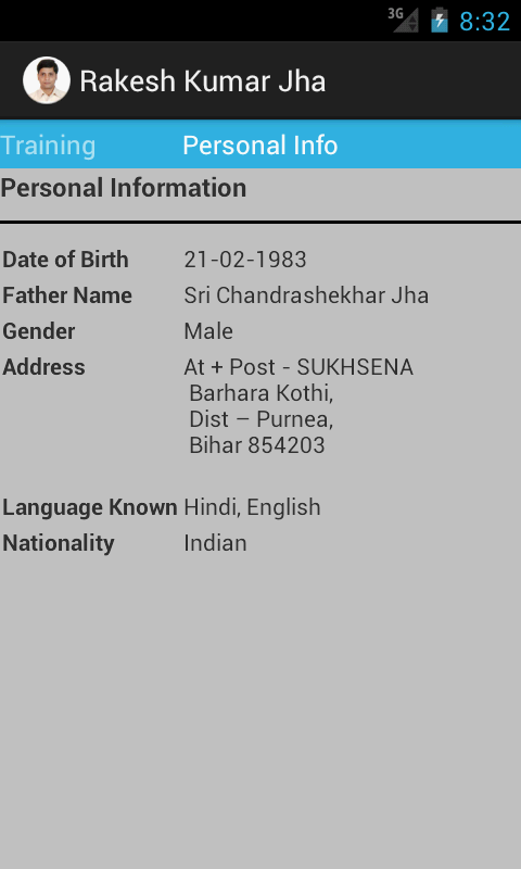"Resume ""Rakesh Kumar Jha"" - screenshot"