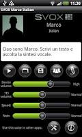 Screenshot of SVOX Italian Marco Voice