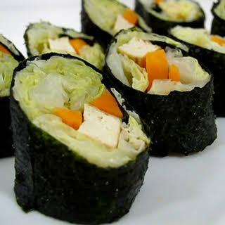 Cabbage Nori Rolls.