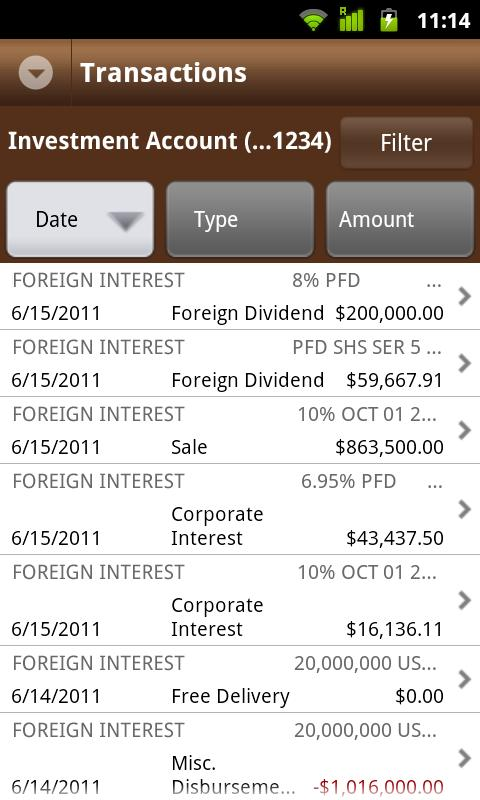 J.P. Morgan Mobile - screenshot