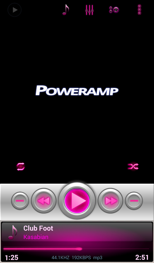 Mad Jelly Pink Poweramp Skin - screenshot