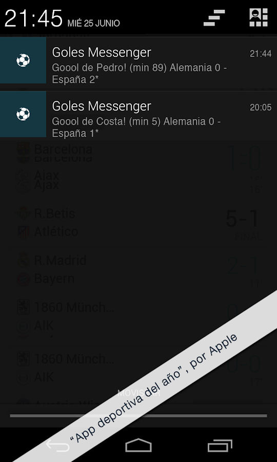 Goals Messenger - screenshot
