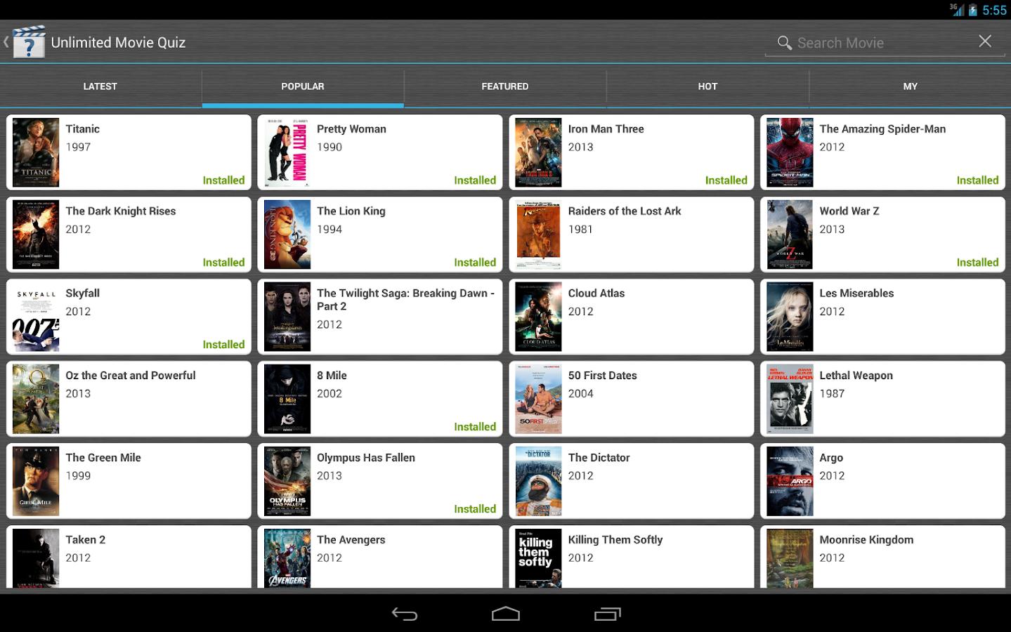 Unlimited Movie Quiz - screenshot