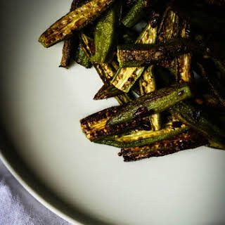 Spicy Oven Roasted Okra.