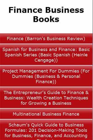 Finance Business Books