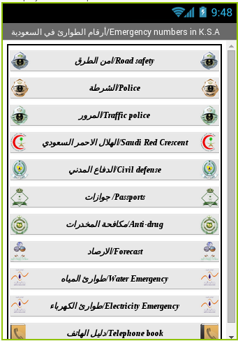 ارقام الطوارئ في السعودية