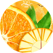 Orange clock live wallpaper