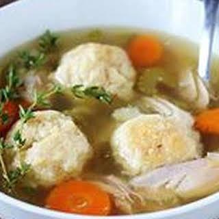 Crock Pot Chicken Matzo Ball Soup.