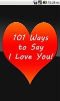 Screenshot of 101 Ways to Say I Love You