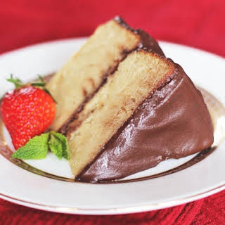 Yellow Cake with Chocolate Fudge Frosting.