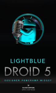 Poweramp Widget Lightblue Droi v2.08-build-208 APK 1