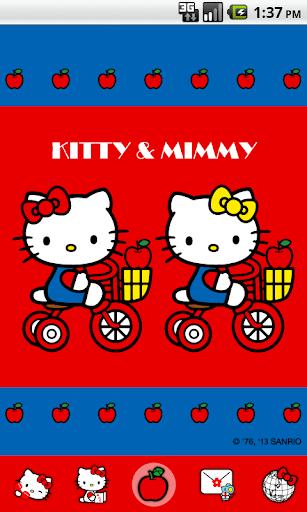 Hello Kitty AppleBicycle Theme