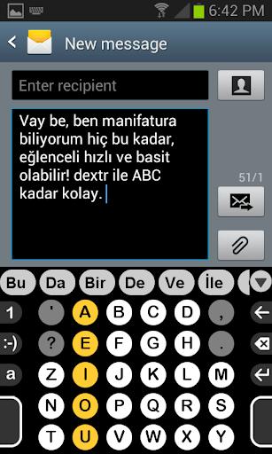 Dextr için Türkçe Sözlük