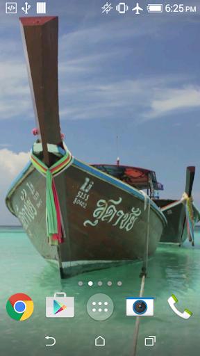 Thai boats live wallpaper